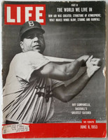 Life Magazine Roy Campanella of the Brooklyn Dodgers June 8, 1953 Very Good [Heavy wear on binding an chipping along edge of cover; contents fine (164 pgs)]