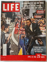Life Magazine Willie Mays of the San Francisco Giants April 28, 1958 Very Good to Excellent [Very lt wear on covers, contents fine; (170 pgs)]