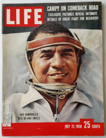 Life Magazine Roy Campanella (Post Accident) July 21, 1958 Excellent [Very lt wear on covers, contents fine; (106 pgs)]