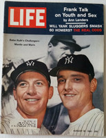 Life Magazine Mickey Mantle and Roger Maris August 18, 1961 Very Good to Excellent [Lt wear and scuffing on cover, ow very clean; contents fine, great cover image (102 pgs)]
