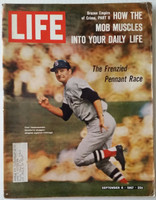 Life Magazine Carl Yastrzemski - The Frenzied Pennant Race September 8, 1967 Very Good [Wear on cover and binding, image very clean; contents fine (118 pgs)]