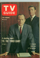 1963 TV Guide May 18 The Defenders Northern California edition Excellent to Mint - No Mailing Label  [Lt wear on cover, ow very clean]