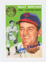Wally Westlake AUTOGRAPH Topps 1954 Archives Indians   [SKU:WestW1913_T54BBRP]