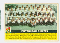 1956 Topps Baseball 121 Pirates Team Very Good