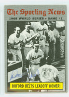 Don Buford AUTOGRAPH 1970 Topps #305 World Series Game 1 Orioles   [SKU:BufoD1786_T70BBWK]