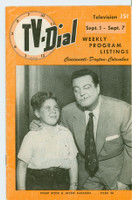1951 TV Dial Sep 1 Jackie Gleason (32 pages) Cincinnati-Dayton edition Very Good to Excellent - No Mailing Label  [Wear, scuffing and lt creasing on both covers; contents fine]