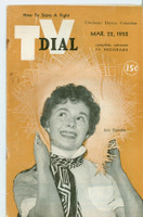 1952 TV Dial Mar 22 Joni Gamble (32 pages) Cincinnati-Dayton edition Very Good - No Mailing Label  [Heavy wear, lt staining on covers; contents fine]