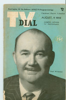 1952 TV Dial Aug 9 Paul Whiteman (32 pages) Cincinnati-Dayton edition Fair to Good - No Mailing Label  [Heavy toning and wear along binding; contents fine]