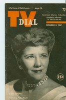 1952 TV Dial Nov 8 Ruth Lyons (32 pages) Cincinnati-Dayton edition Very Good to Excellent - No Mailing Label  [Very lt wear on cover, ow clean]