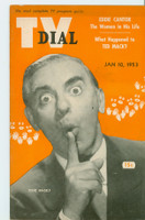 1953 TV Dial Jan 10 Eddie Cantor (32 pages) Cincinnati-Dayton edition Excellent to Mint  [Very lt wear on cover, ow clean]