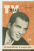 1953 TV Dial Jan 17 Ed Sullivan (32 pages) Cincinnati-Dayton edition Excellent  [Very lt wear on cover, ow clean]