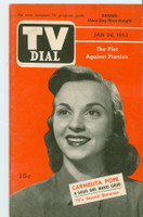 1953 TV Dial Jan 24 Carmelita Pope (32 pages) Cincinnati-Dayton edition Very Good to Excellent - No Mailing Label  [Very lt wear, ow clean]