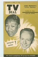 1953 TV Dial Feb 7 Kid Galivan (32 pages) Cincinnati-Dayton edition Very Good  [Lt wear on cover, sl crease; contents fine]
