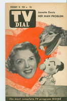 1953 TV Dial Feb 14 Janette Davis (32 pages) Cincinnati-Dayton edition Very Good to Excellent - No Mailing Label  [Very sm crease on bottom corner; ow very clean]