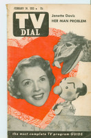 1953 TV Dial Feb 14 Janette Davis (32 pages) Cincinnati-Dayton edition Very Good  [Wear and toning along binding; contents fine]