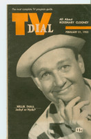 1953 TV Dial Feb 21 Willie Thall (32 pages) Cincinnati-Dayton edition Very Good to Excellent  [Lt wear on cover, ow clean]