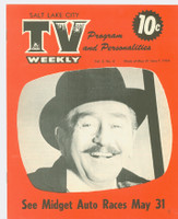 1954 TV Weekly May 31 Adolphe Menjou (16 pages) Salt Lake City edition Near-Mint - No Mailing Label  [Very lt wear, ow very clean]