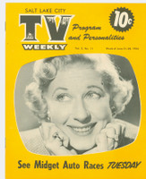 1954 TV Weekly Jun 21 Joan Davis of I Married Joan (16 pages) Salt Lake City edition Excellent to Mint - No Mailing Label  [Super clean example]