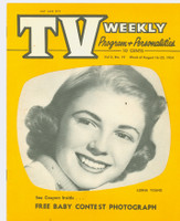 1954 TV Weekly Aug 16 Lorna Young (16 pages) Salt Lake City edition Near-Mint - No Mailing Label  [Very lt wear, ow very clean]
