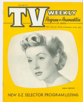 1954 TV Weekly Sep 13 Elena Verdugo of Meet Millie (16 pages) Salt Lake City edition Near-Mint - No Mailing Label  [Super clean example]