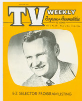 1954 TV Weekly Oct 11 Sammy Kaye (16 pages) Salt Lake City edition Very Good to Excellent - No Mailing Label  [Very lt moisture on both covers; stray pencil WRT on reverse; contents fine]