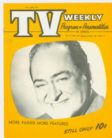 1954 TV Weekly Oct 25 Edward Arnold (20 pages) Salt Lake City edition Excellent - No Mailing Label  [Minor pencil mark on cover; ow clean]