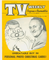 1954 TV Weekly Dec 6 Uncle Roscoe (20 pages) Salt Lake City edition Near-Mint - No Mailing Label  [Period WRT on cover, ow very clean]