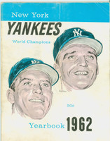 1962 Yankees Yearbook Jay Mantle and Maris Cover - World Series Champions (50 pgs) Good to Very Good Heavy creasing, scratches and toning on cover; contents fine