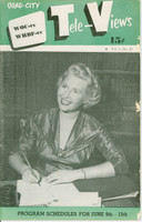 1951 TV Televiews June 9 Sheila Graham (24 pg) Quad City edition Very Good - No Mailing Label  [Wear on cover, contents fine]
