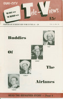 1951 TV Televiews June 23 Buddy's of the Airlines (24 pg) Quad City edition Excellent  [Very clean example]