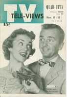 1951 TV Televiews November 17 Jackie Kelk and Pat Holsey (24 pg) Quad City edition Excellent  [Lt wear on covers, contents fine]