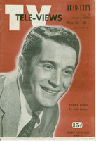 1951 TV Televiews November 24 Perry Como (24 pg) Quad City edition Excellent  [Lt wear on covers, contents fine]