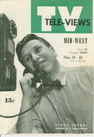 1951 TV Televiews December 15 Studs Terkel (24 pg) Midwest edition Very Good to Excellent  [Lt wear on covers, contents fine]