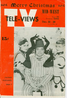 1951 TV Televiews December 22 Jackie Gleason (24 pg) Midwest edition Very Good to Excellent  [Minor staining on cover, lt creasing; contents fine]