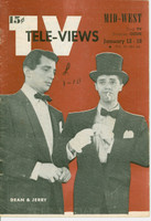 1952 TV Televiews January 12 Dean Martin and Jerry Lewis (24 pg) Midwest edition Very Good to Excellent - No Mailing Label  [lt creasing on cover, period notation; contents fine]