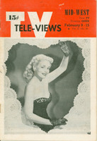 1952 TV Televiews February 9 Marie Wilson of My Friend Irma (32 pg) Midwest edition Very Good to Excellent - No Mailing Label  [Lt wear on covers, contents fine]