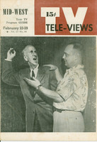 1952 TV Televiews February 23 Jimmy Durante (32 pg) Midwest edition Very Good  [Wear on covers, contents fine]