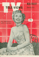1952 TV Televiews March 8 Kay Westfall (32 pg) Midwest edition Excellent  [Very clean example]
