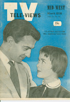1952 TV Televiews March 22 Claudia and David (32 pg) Midwest edition Very Good  [Heavy scuffing on cover, contents fine]