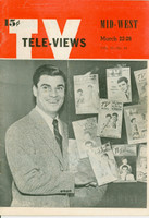 1952 TV Televiews March 22 Bert Parks (32 pg) Iowa edition Very Good to Excellent  [Lt wear on covers and interior pages, contents fine]