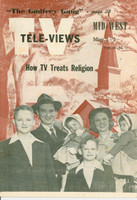 1952 TV Televiews May 3 How TV Treats Religion (32 pg) Midwest edition Excellent  [Very clean example]