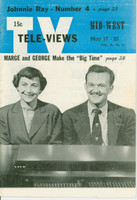 1952 TV Televiews May 17 Marge and George (32 pg) Midwest edition Excellent  [Lt wear on covers, contents fine]