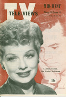 1952 TV Televiews May 31 Lucille Ball and Desi Arnaz (32 pg) Midwest edition Very Good to Excellent  [Lt wear on covers, contents fine; lbl stamped on reverse]