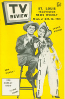 1951 TV Review October 13 Ken Murray and Laurie Anders (24 pg) St. Louis edition Excellent - No Mailing Label  [Very clean example]