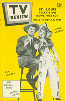 1951 TV Review October 13 Ken Murray and Laurie Anders (24 pg) St. Louis edition Very Good to Excellent - No Mailing Label  [Lt wear on cover, staple rust]