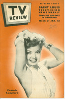 1952 TV Review January 12 Francis Langford (24 pgs) St. Louis edition Very Good - No Mailing Label  [Lt wear on cover, lt pencil WRT]