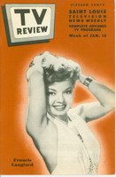 1952 TV Review January 12 Francis Langford (24 pgs) St. Louis edition Excellent to Mint - No Mailing Label  [Very clean example]