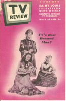 1952 TV Review January 26 TV's Best Dressed Man St. Louis edition Good to Very Good - No Mailing Label  [Heavy wear along top of binding, listings fine]