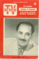 1952 TV Review November 29 Groucho Marx St. Louis edition Very Good - No Mailing Label  [Lt wear and scuffing on covers, sl discoloration on back cover]