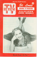 1952 TV Review December 6 Marcella Huston St. Louis edition Excellent - No Mailing Label  [Very clean example]